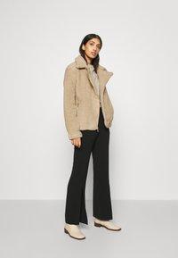 Hollister Co. - BIKER - Winter jacket - tan - 1