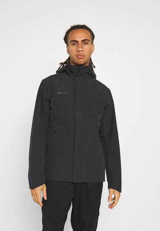 TROVAT HOODED JACKET  - Hardshellová bunda - black