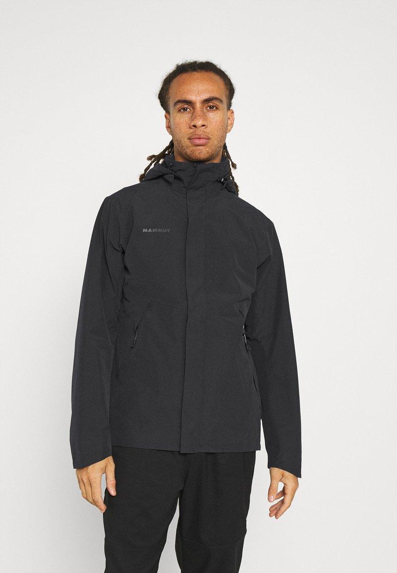 Mammut - TROVAT HOODED JACKET  - Hardshell jacket - black
