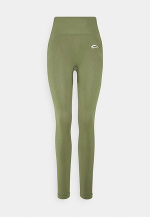 SEAMLESS LEGGINGS COOL - Trikoot - khaki