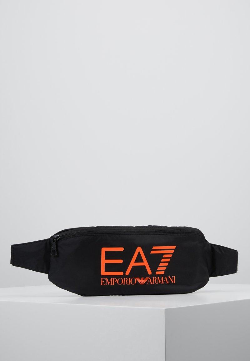EA7 Emporio Armani - Sac banane - black / neon / orange