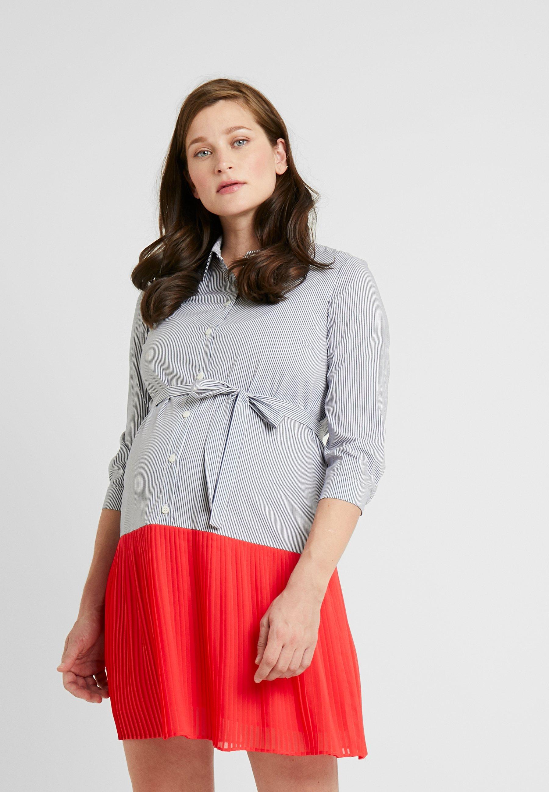 ATTESA CAMICIA PLISSE - Blusenkleid - coral | Damenbekleidung 2020