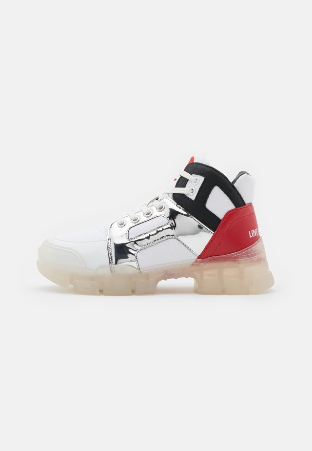 TREKK - Lace-up ankle boots - white