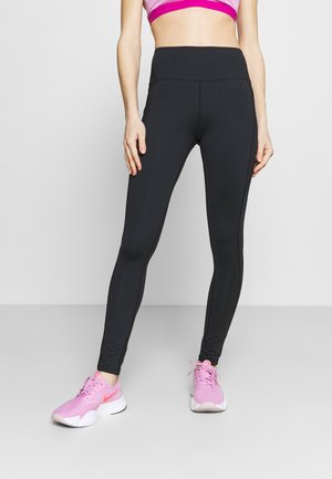 HIGH WAIST LEGGING - Tights - black