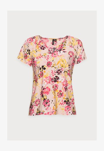VMGIGI TOP PETITE - T-shirts med print - sepia rose