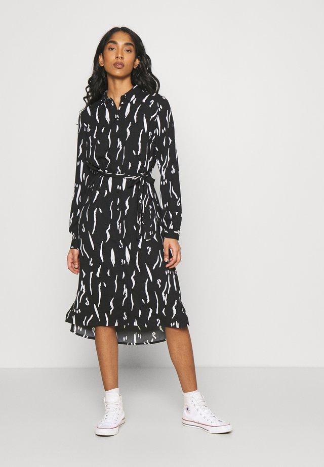 VMELITA  - Skjortklänning - black/white
