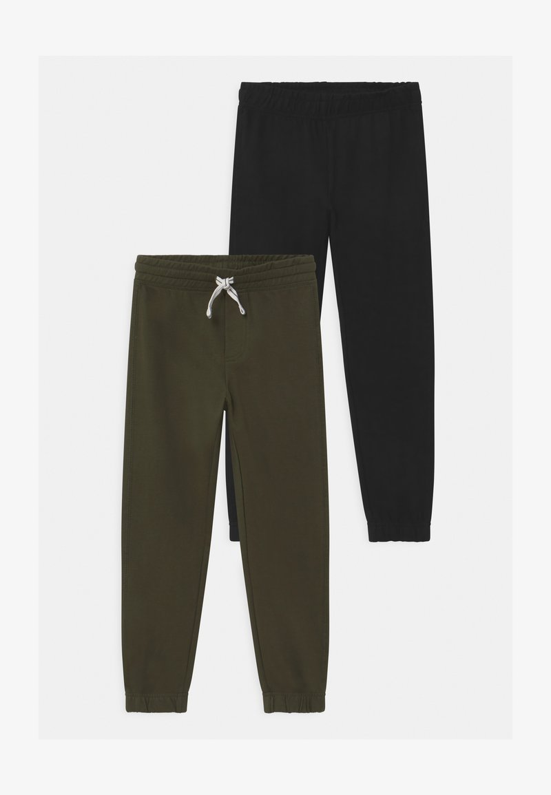 OVS - TERRY 2 PACK - Tracksuit bottoms - black/khaki