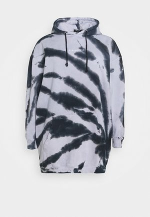 TIE DYE HOODY DRESS - Sudadera - black