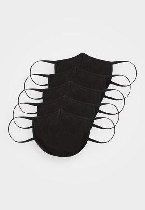 5 PACK - Mascarilla de tela - black
