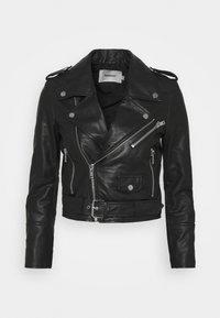 JOAN JACKET - Kožená bunda - black