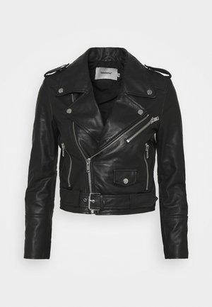 JOAN JACKET - Leather jacket - black