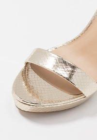 ALDO - MADALENE - High heeled sandals - gold - 2