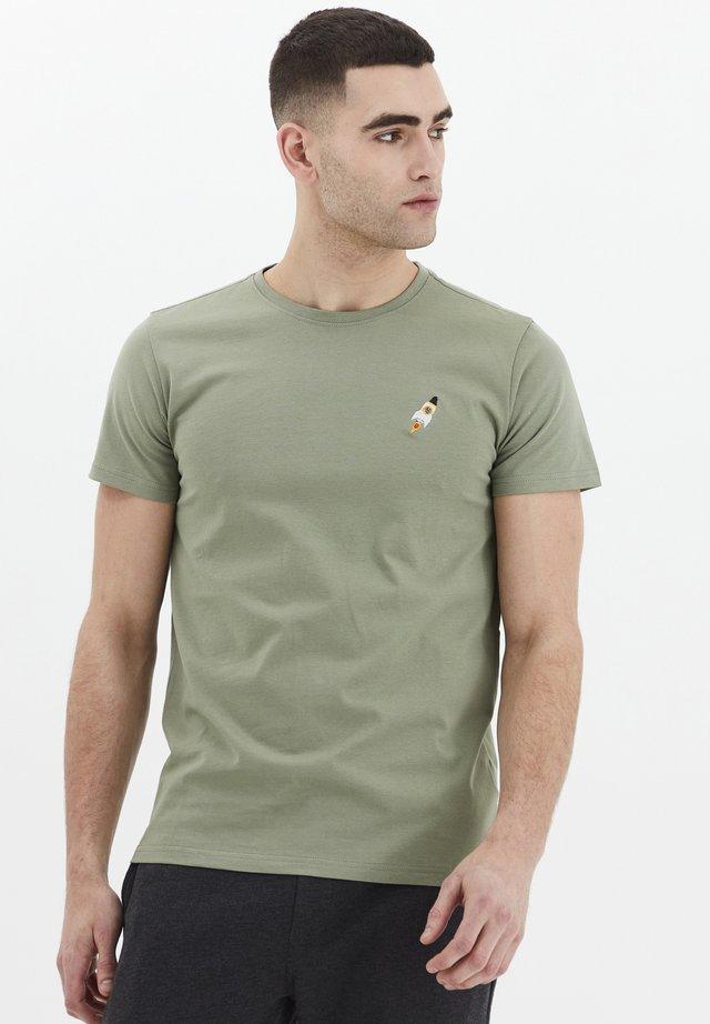 THORGE - Basic T-shirt - hedge green