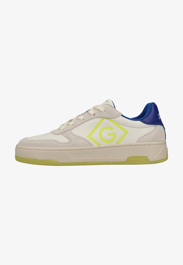 Sneakers laag - off white/blue