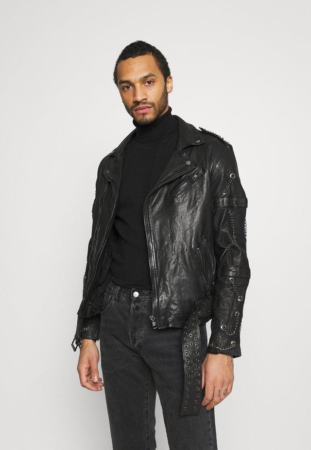 BART - Veste en cuir - black