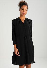 Selected Femme - SFDAMINA 7/8 DRESS - Shirt dress - black - 0