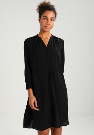 SFDAMINA 7/8 DRESS - Skjortekjole - black