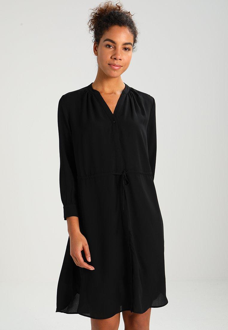 Selected Femme - SFDAMINA 7/8 DRESS - Shirt dress - black