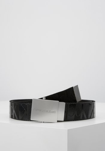 PLAQUE CANVAS BELT  - Belt - grey