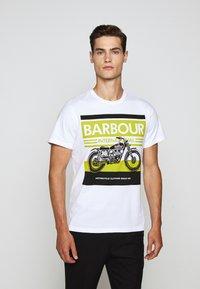 Barbour International - BURN TEE - Print T-shirt - white - 0