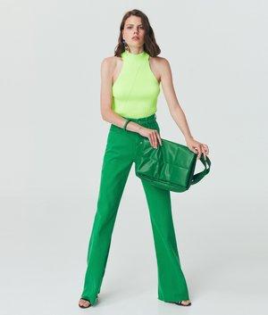 Top - neon green