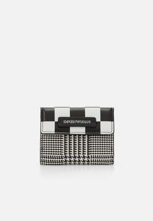 FLO CHECK WOMEN'S TRIFOLD WALLET - Portafoglio - black/off white