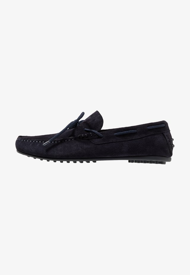 SLHSERGIO DRIVE SHOE - Mocassins - dark navy