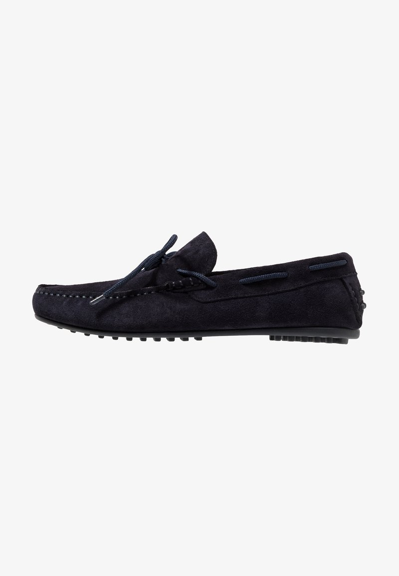 Selected Homme - SLHSERGIO DRIVE SHOE - Moccasins - dark navy