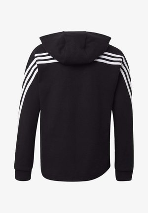 3-STRIPES FULL-ZIP HOODIE - Zip-up hoodie - black
