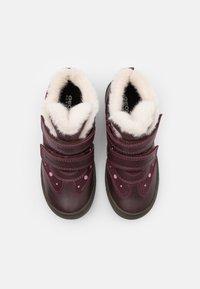 Geox - HADRIEL GIRL WPF - Classic ankle boots - dark burgundy - 3