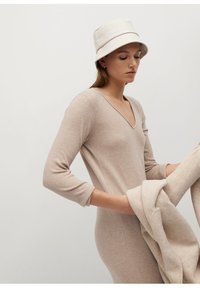 Mango - ROLLY - Jumper dress - light/pastel grey - 8