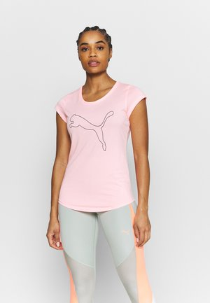 PERFORMANCE CAT TEE  - T-Shirt print - elektro peach