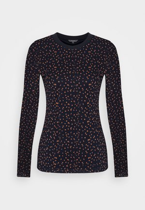 LONGSLEEVE - Long sleeved top - navy/orange