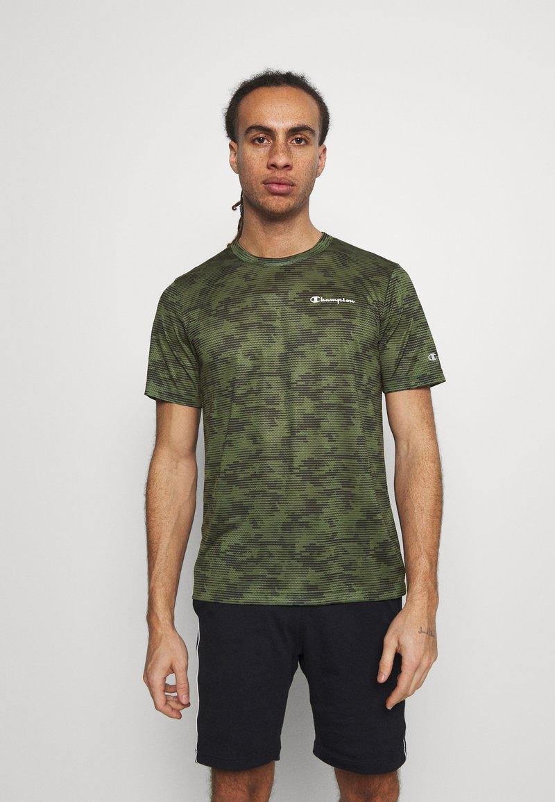 Champion - CREWNECK  - Print T-shirt - khaki