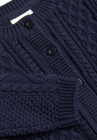 Next - NAVY CABLE KNIT CARDIGAN (0MTHS-3YRS) - Vest - blue - 2