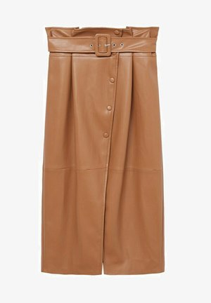CARLO-I - Wrap skirt - marron
