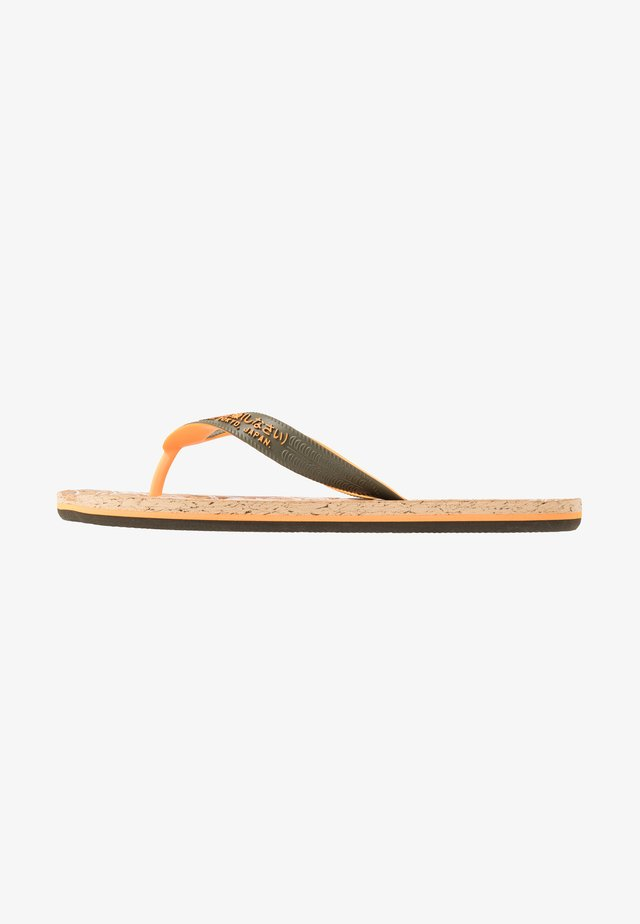 T-bar sandals - fluro orange