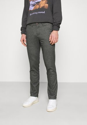 JJIROY JJHERRINGBONE LIGHT - Pantalones - light gray