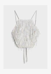 Bershka - MIT PAILLETTEN UND FRANSEN  - Bluse - silver - 4