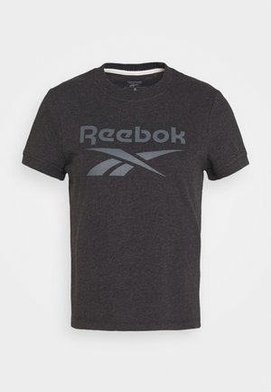 TEXTURE LOGO TEE - T-shirts med print - anthracite