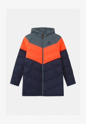 LONG UNISEX - Vinterkåpe / -frakk - ozone blue/hyper crimson/midnight navy