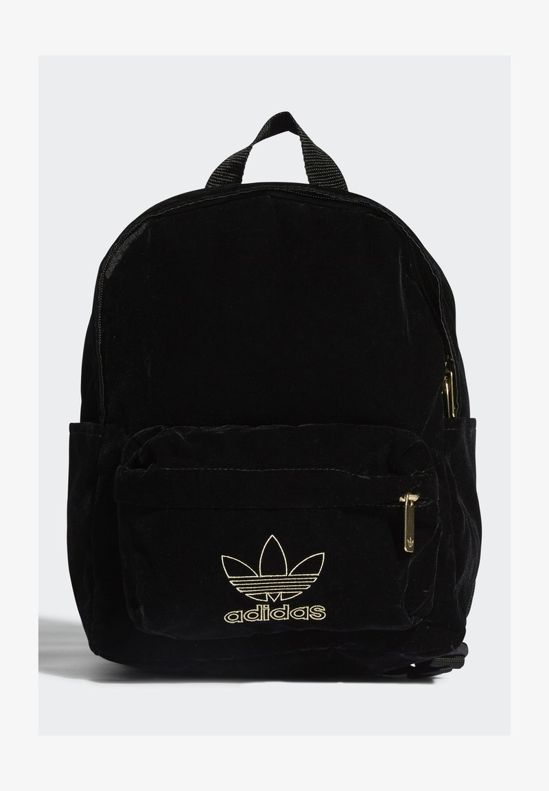 adidas Originals - SMALL VELOUR ADICOLOR - Batoh - black/gold met.