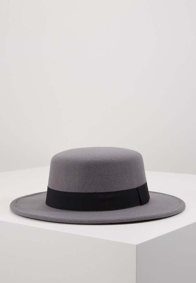 BOATER HAT - Hatt - dark grey