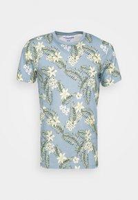 JORTROPIC TEE CREW NECK - Print T-shirt - ashley blue