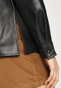 Vila - VINALIA COATED - Button-down blouse - black - 5