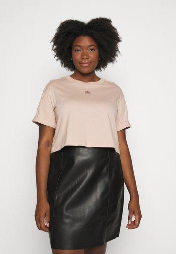 CROP - Camiseta estampada - ash peach