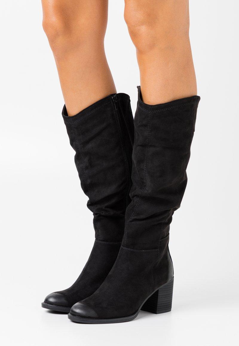s.Oliver - Vysoká obuv - black