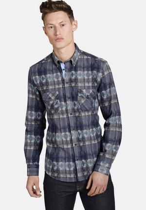 SQUARESANDTEES - Shirt - blue/grey