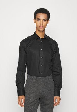 Slim Fit - Stretch Twill Shirt – Contrast Piping & Buttons - Zakelijk overhemd - black