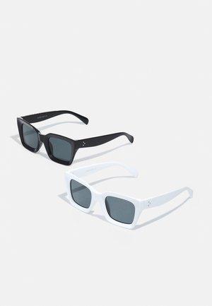 ONSSUNGLASS 2 PACK UNISEX - Occhiali da sole - black/white/black